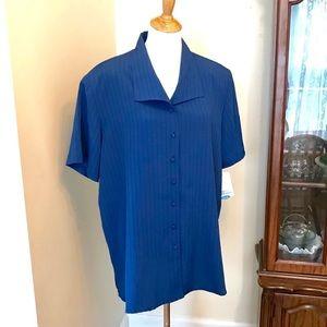 NWT Vintage ship'n shore button up blouse
